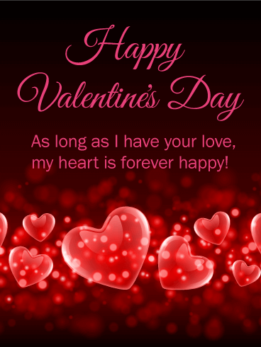 My Heart Is Forever Happy Happy Valentine's Day Card