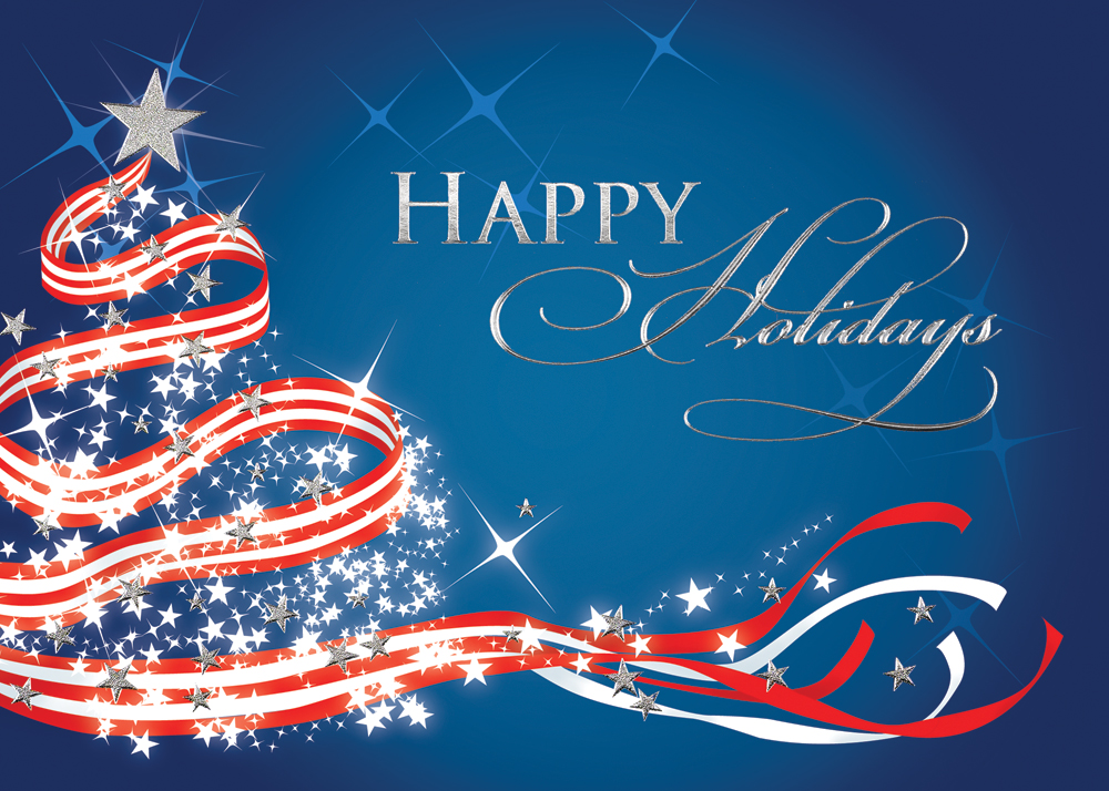 Patriotic Tree Christmas Card Holiday Card Website
