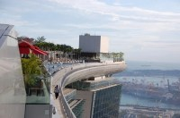 "Bild ""Pool mit Skyline-View"" zu Marina Bay Sands in Singapur"