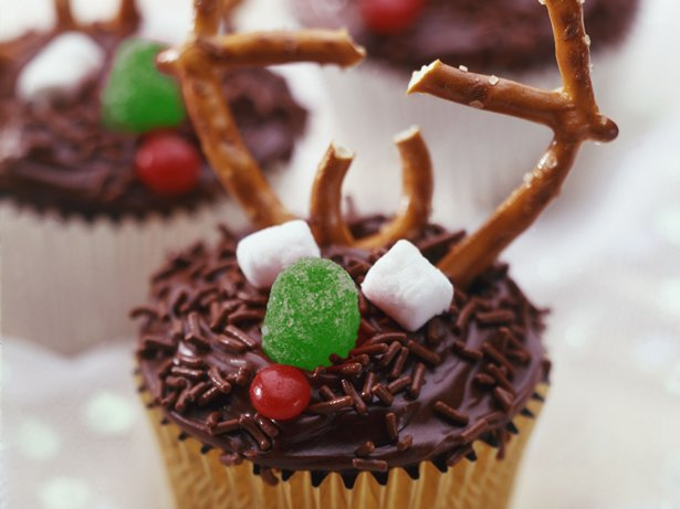 Reindeer Cupcakes Holiday Cottage