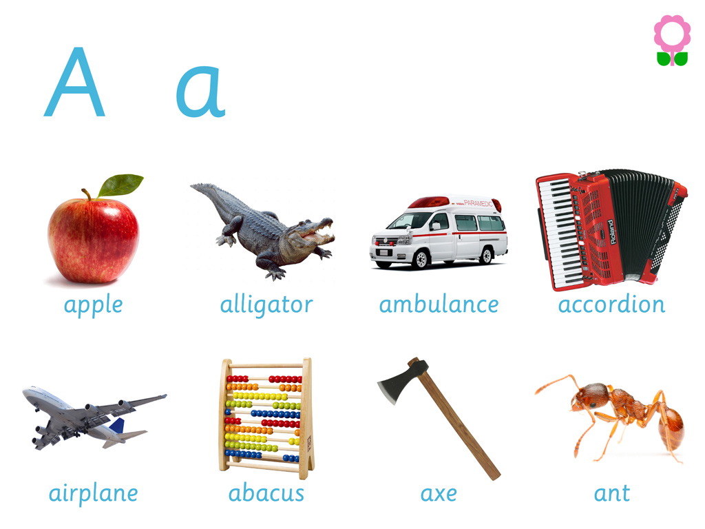 Words Starting With Letter A For Kindergarten