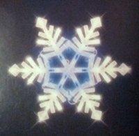 Lighted Christmas Window Decoration, Snowflake White ...