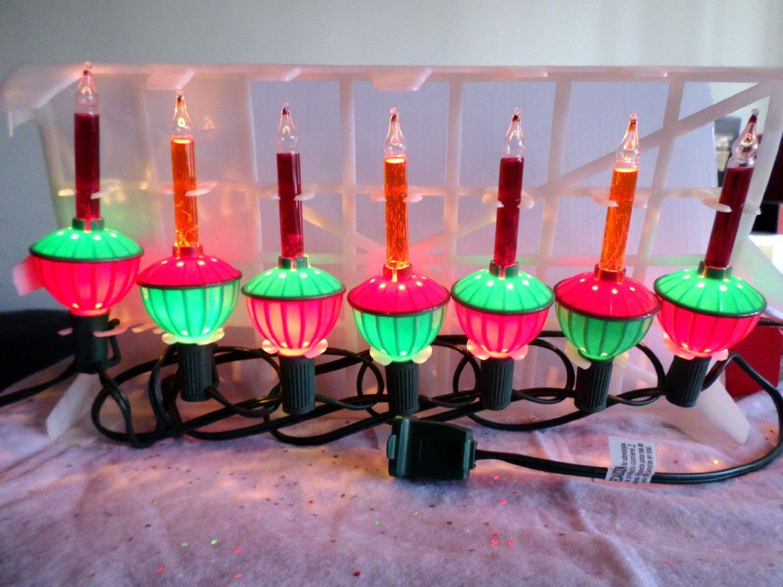 Noma Bubble Lite Set Of 7 Vintage Repro Christmas Bubble Lights