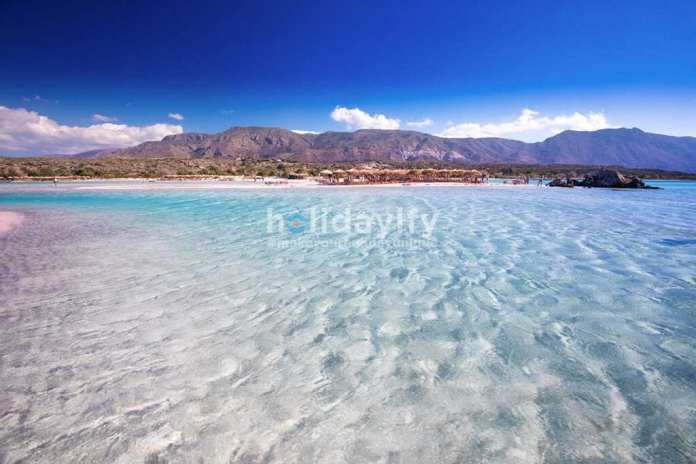 Elafonissi beach on Crete island