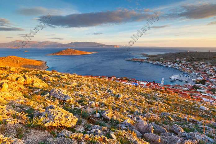 Beautiful Halki island, Greece