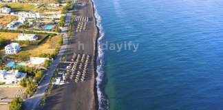 Perissa beach, Santorini island