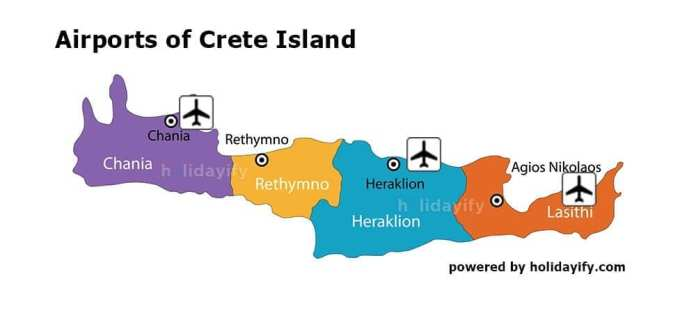 Airports of Crete Island