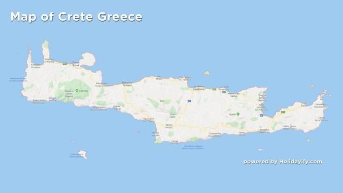 Map of Crete Greece, Google Map