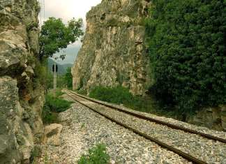 Railway, Nestos River, Xanthi, Greece