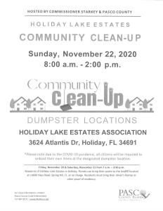 HLE Community Clean-Up Days @ Holiday Lake Estates Civic Association