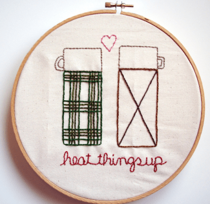 Heat Things Up Thermos Inspired Embroidery