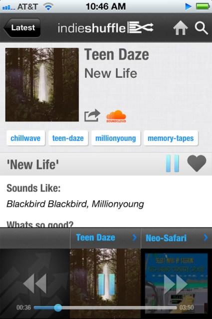 Indie Shuffle app screenshot