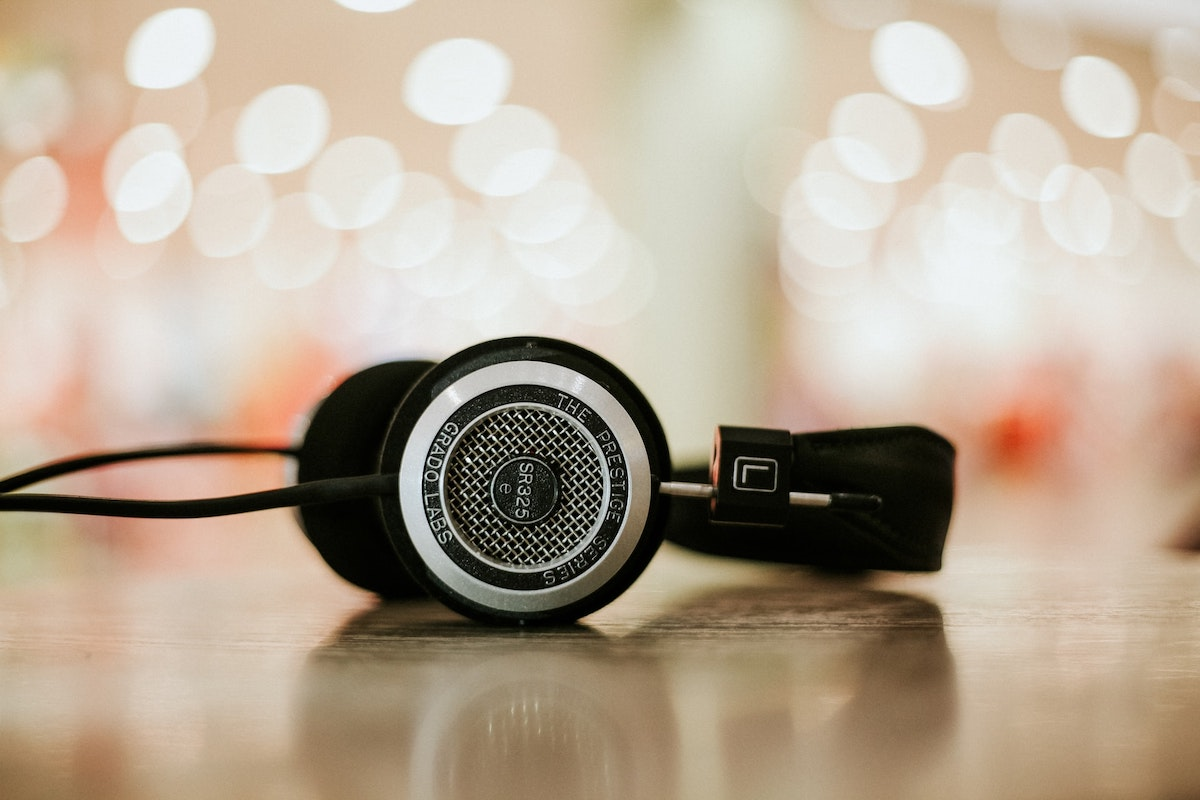 Headphones on a surface