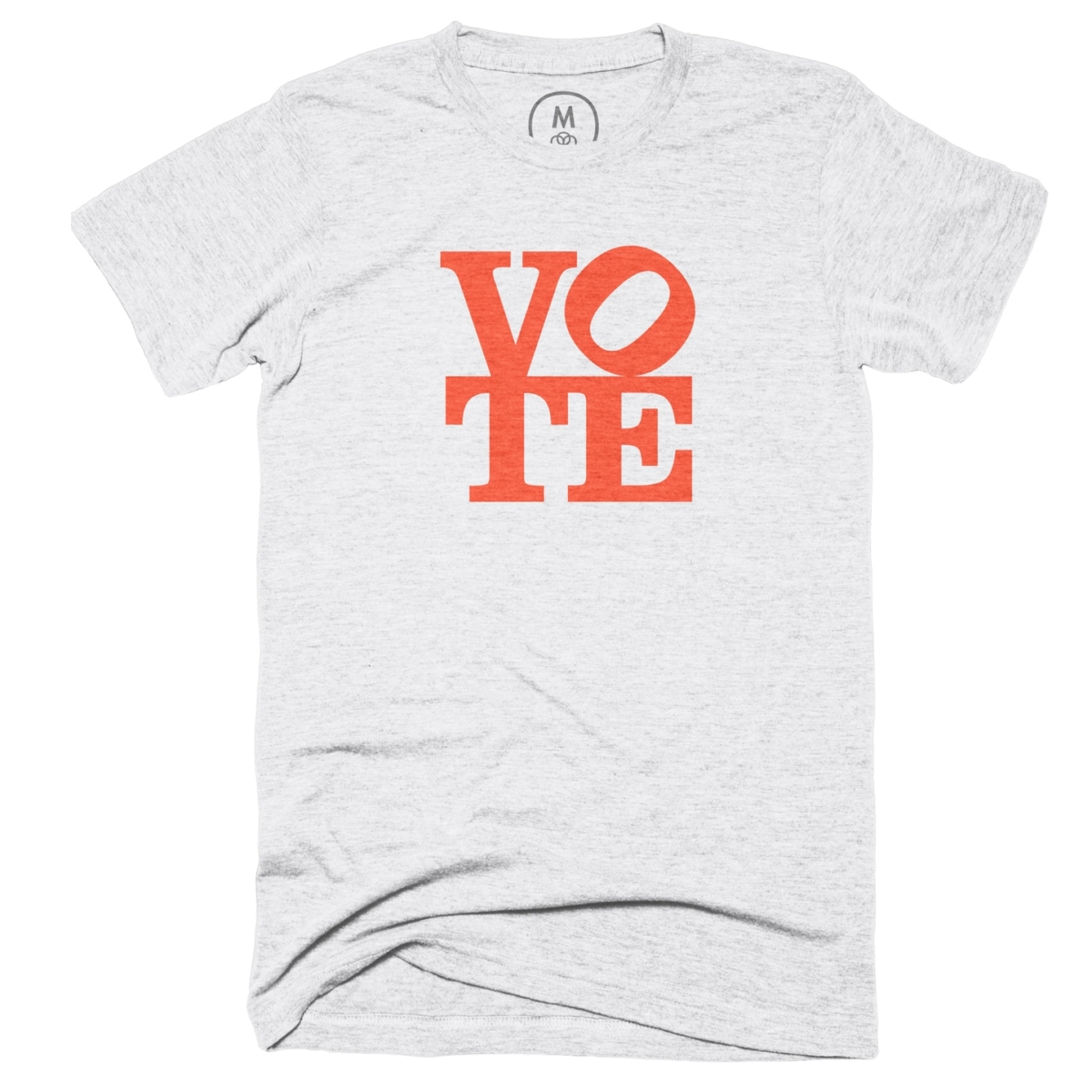 Vote shirt in the style of LOVE