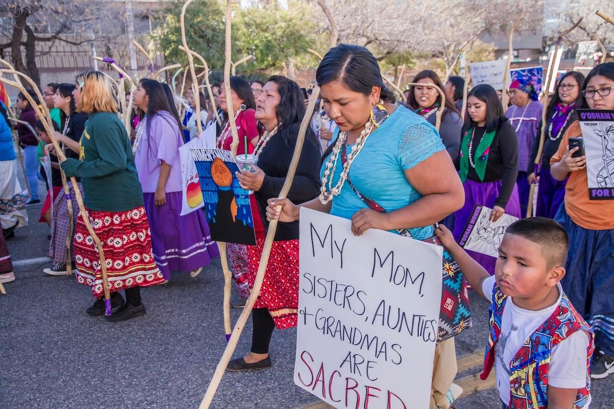 Women marching in Tucson