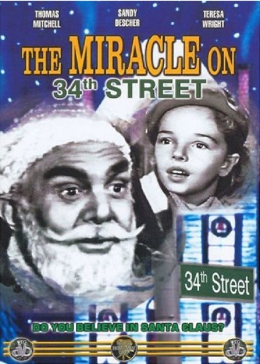 "Poster for the movie ""The Miracle on 34th Street"""
