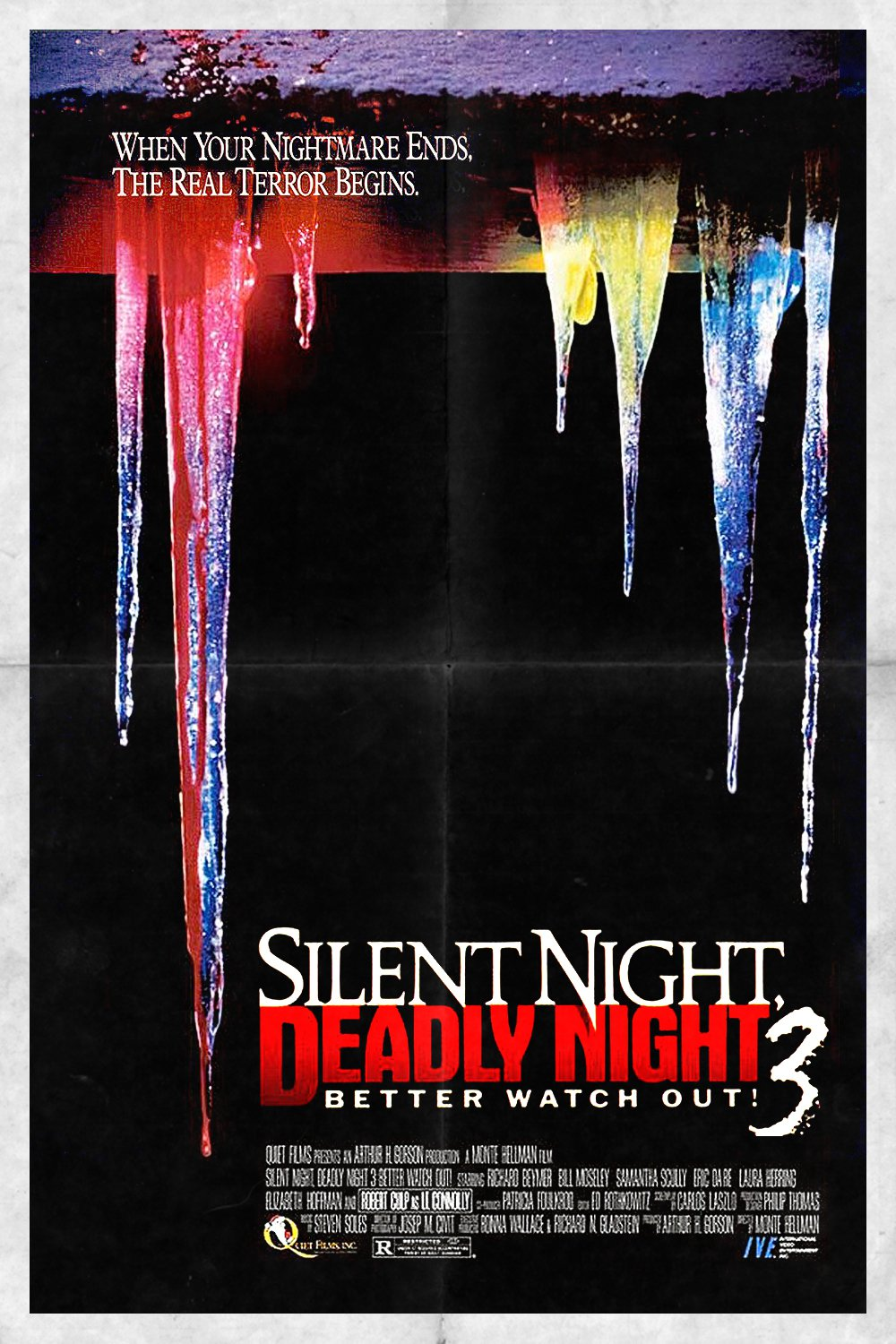 "Poster for the movie ""Silent Night, Deadly Night III: Better Watch Out!"""