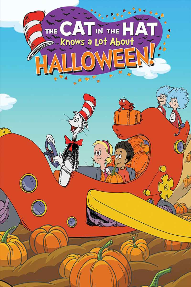 "Poster for the movie ""The Cat In The Hat Knows A Lot About Halloween!"""
