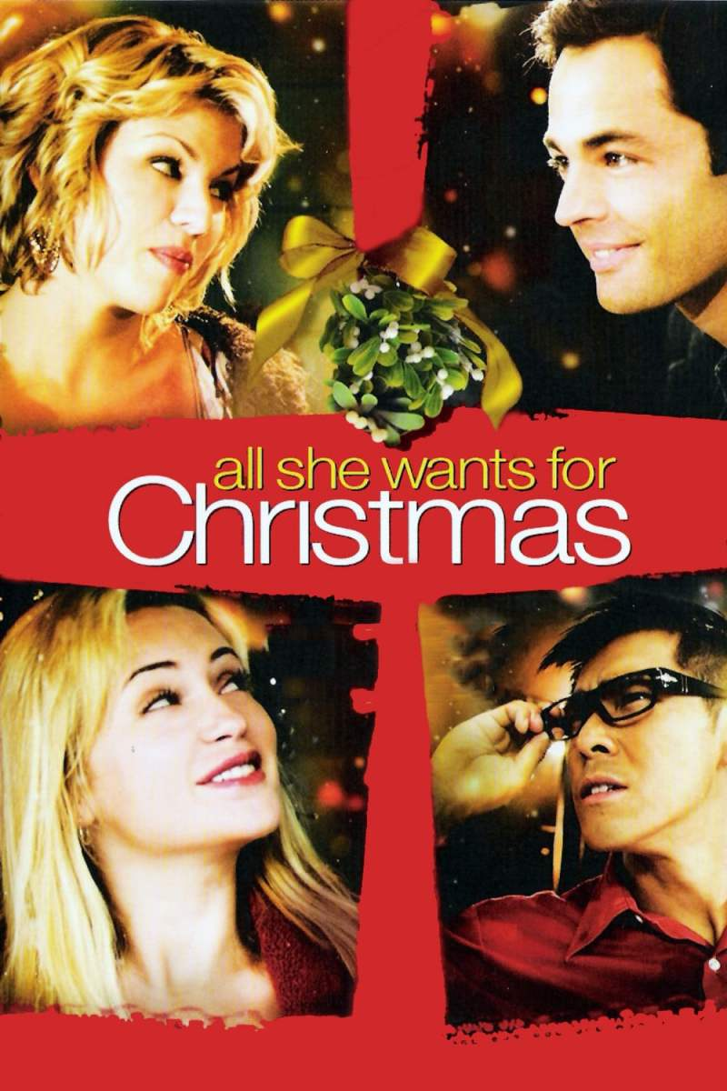 """Poster for the movie """"All She Wants for Christmas"""""""