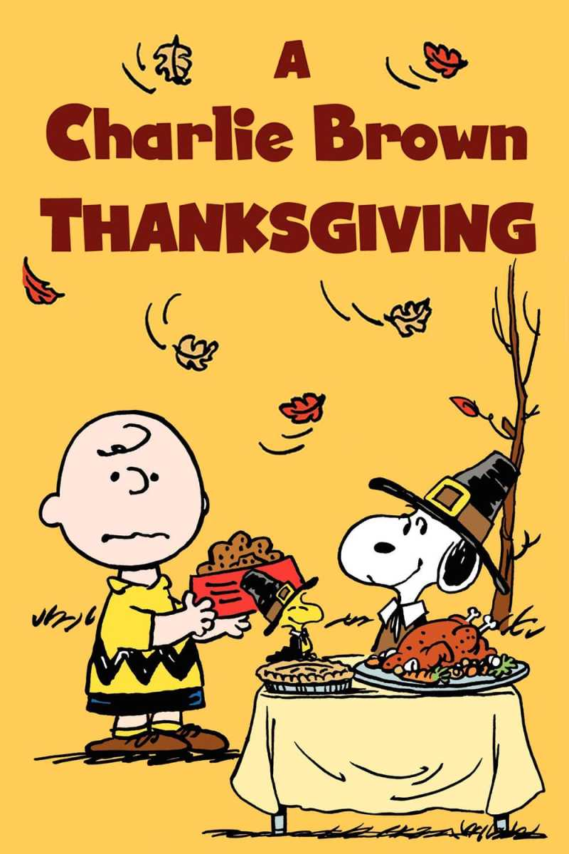 "Poster for the movie ""A Charlie Brown Thanksgiving"""