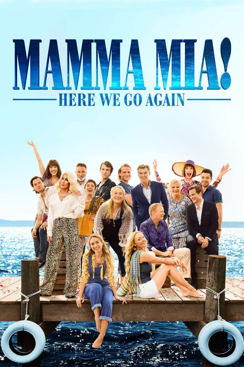 "Poster for the movie ""Mamma Mia! Here We Go Again"""