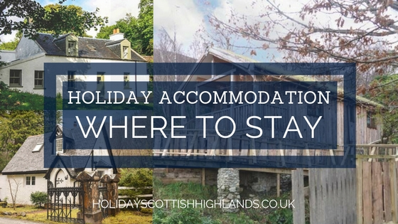 Blog title - accommodation in Scottish Highlands and Islands