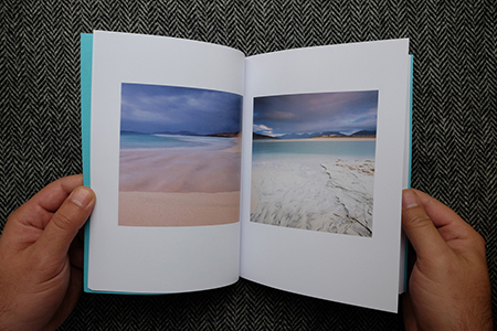 Christopher Swan: Harris in the Spring - image of inside the book showingsandy beaches