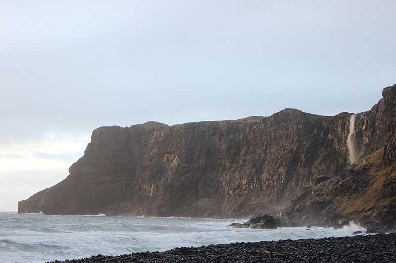 Talisker beach cliffs Isle of Skye