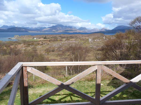Thorsvik Broadford Isle of Skye decking view mountains sea