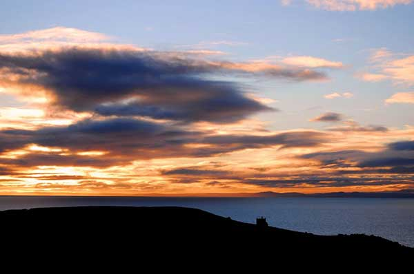 View to the Moray hills in the twilight