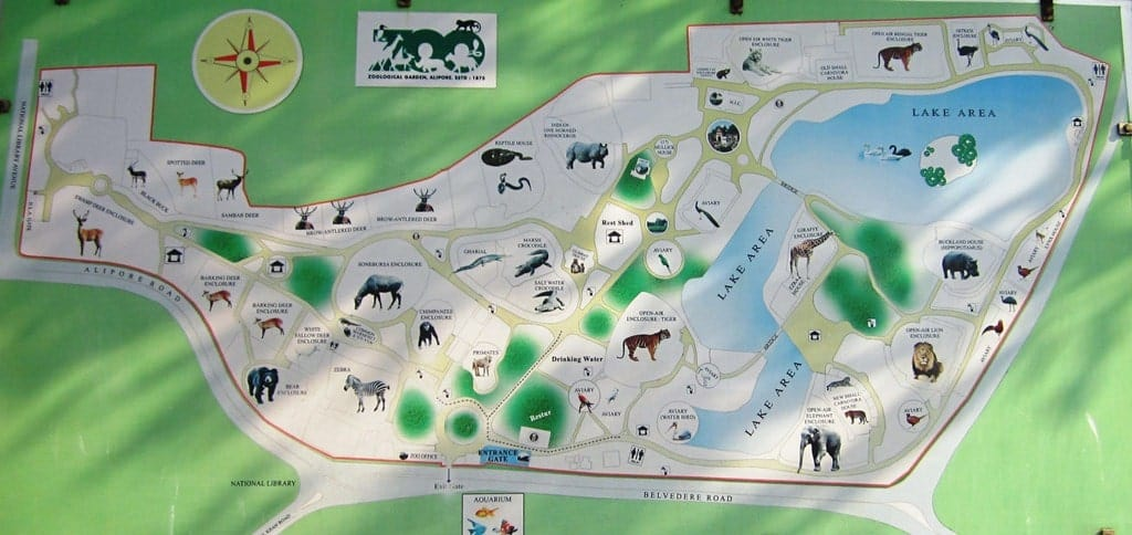 alipore zoo route map