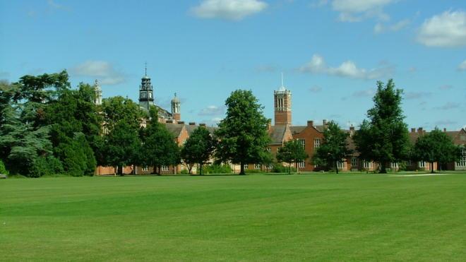 Gli spazi del Christ's Hospital College di Horsham