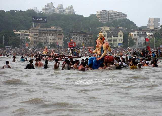 ganesh visarjan 2015 mumbai