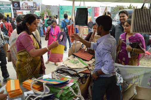 Jute bags being sold in India