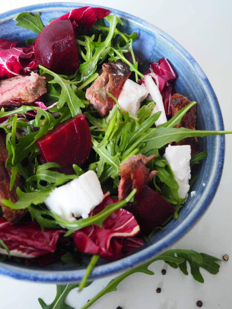 Rucola Salat mit Rote Bete