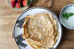 Rezept für glutenfreie Protein-Crepes