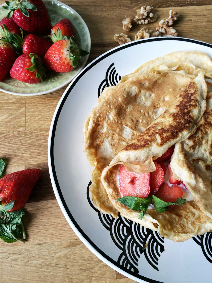 Protein-Crepes low carb & glutenfrei