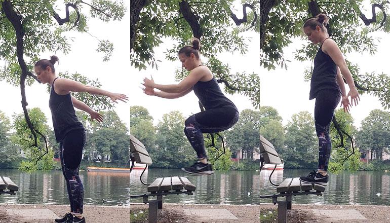 Parkbank Workout: Box Jumps