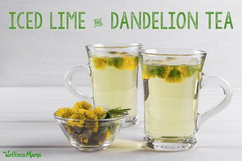 Iced lime dandelion tea recipe