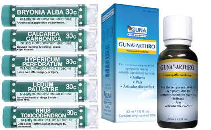Arthritis Homeopathy Kit Homeopathic Treatment of Arthritis