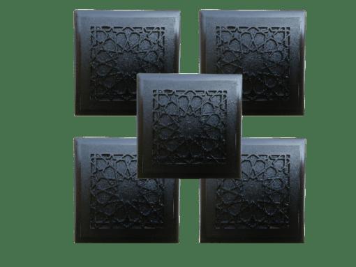 five Tiles design Beautiful Protective Shungite Orgonite Tiles | Moroccan Design