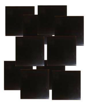 shungite orgonite tile plain design set of 10 Shungite Orgonite Tiles Plain