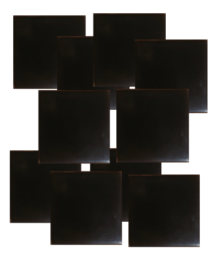 shungite orgonite tile plain design set of 10 EMF Protection