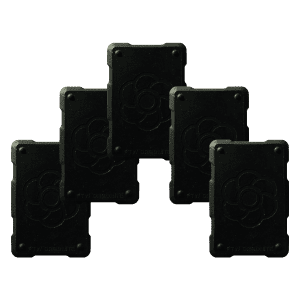 5 black shields Orgonite Phone Shields