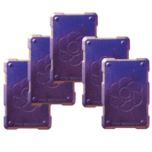 5 purple shields Orgonite Phone Shields