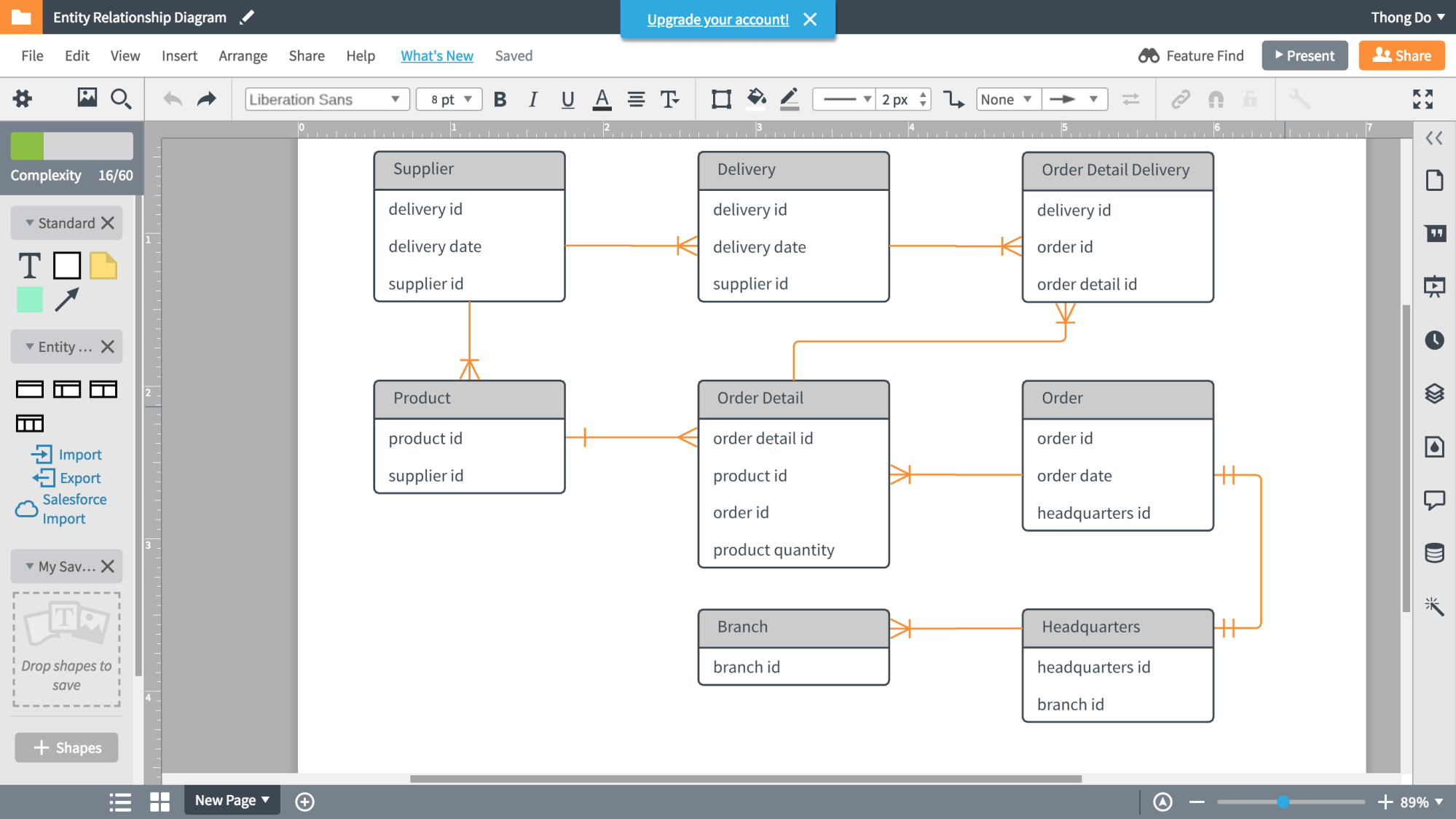 hight resolution of lucidchart database diagram