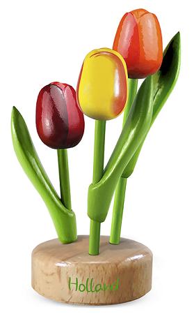 Hollandse souvenirs houten klompen sleutelhangers met