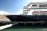 ms Amsterdam docked at Cape Town, South Africa, on its 2011 Grand World Voyage.