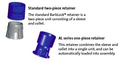 BarbLock  BarbLock Retainers  BarbLock Fittings