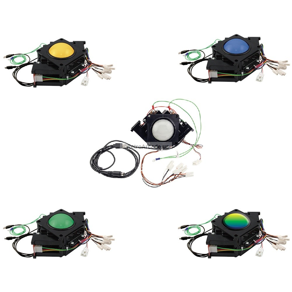 hight resolution of 3 inch arcade game led color changing trackball with usb and ps2